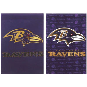 Baltimore Ravens Glitter House Flag 2 Sided