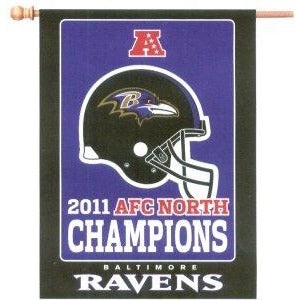 Baltimore Ravens 2011 AFC North Champs House Flag