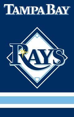 Tampa Bay Rays House Flag 2 Sided