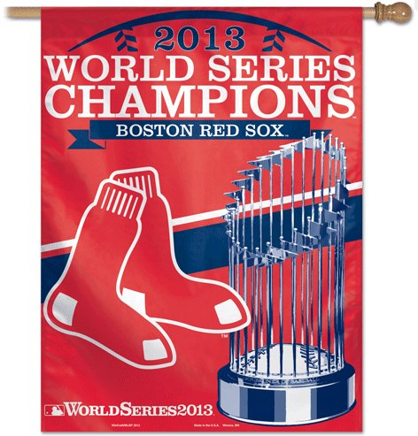Boston Red Sox 2013 World Series Champs House Flag