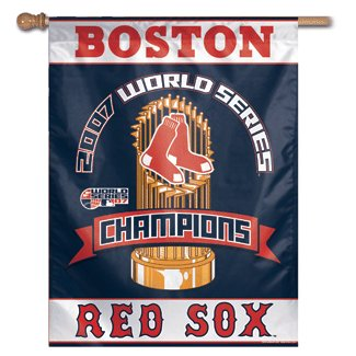 Boston Red Sox 2007 World Series Champs House Flag