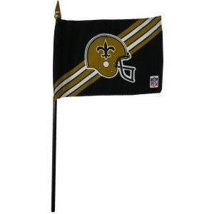 New Orleans Saints 4x6in Stick Flag