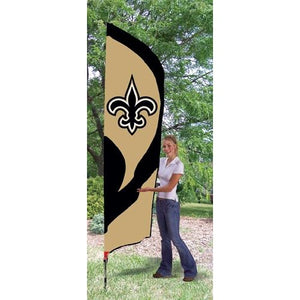 New Orleans Saints 8ft Feather Sewn Flag Kit