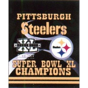 Super Bowl 40 Pittsburgh Steelers House Flag 2 Sided