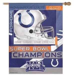 Super Bowl 41 Indianapolis Colts House Flag
