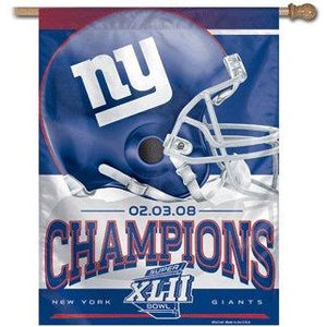Super Bowl 42 New York Giants House Flag
