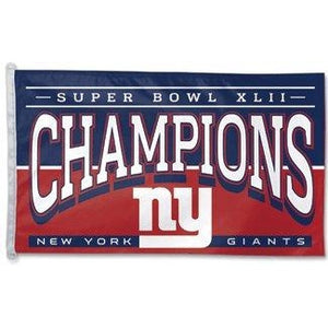 Super Bowl 42 New York Giants 3x5ft Flag