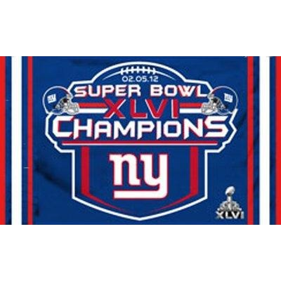 Super Bowl 46 New York Giants 3x5ft Flag