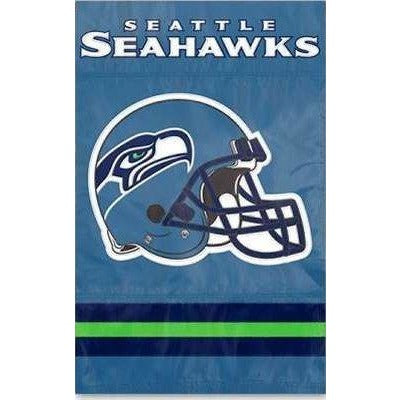 Seattle Seahawks House Sewn Flag 2 Sided