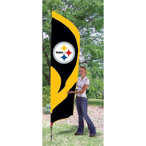 Pittsburgh Steelers 8ft Feather Sewn Flag Kit