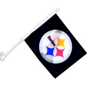 Pittsburgh Steelers Car Flag 2 Sided