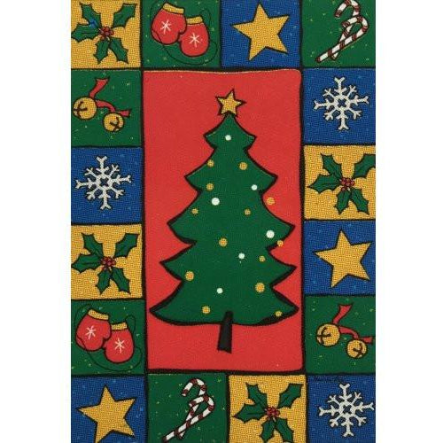 Christmas Tree Collage - House Flag