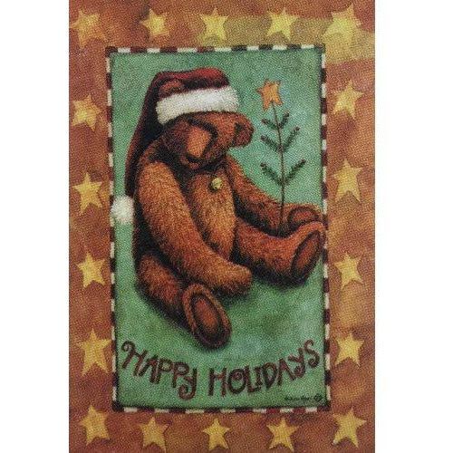 Holiday Teddy - House Flag - FlagsOnline.com by CRW Flags Inc.