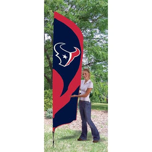 Houston Texans 8ft Feather Sewn Flag Kit