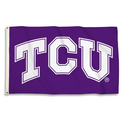 Texas Christian University 3x5ft Flag