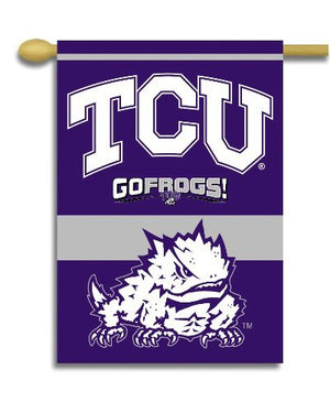 Texas Christian University House Flag 2 Sided