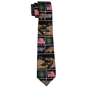 Army Collage Tie