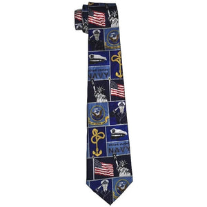 Navy Collage Blue Tie