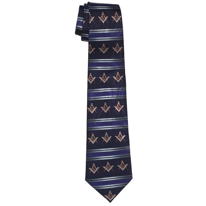 Masonic Stripes Tie