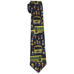 Schoolbuses and Children Tie