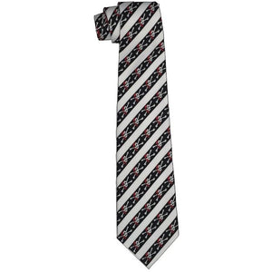 Pirate Skulls and Stripes Tie