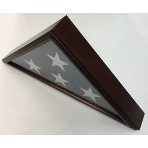 Triangle Wood Display Case for Burial Casket 5x9 1/2ft Flag - Cherry - FlagsOnline.com by CRW Flags Inc. - 2