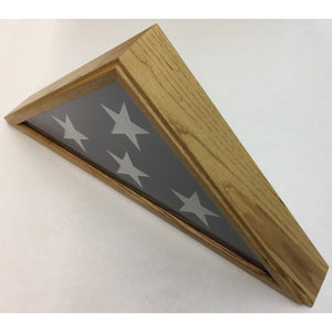 Triangle Wood Display Case for Burial Casket 5x9 1/2ft Flag - Oak - FlagsOnline.com by CRW Flags Inc. - 2