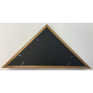 Triangle Wood Display Case for Burial Casket 5x9 1/2ft Flag - Oak - FlagsOnline.com by CRW Flags Inc. - 3
