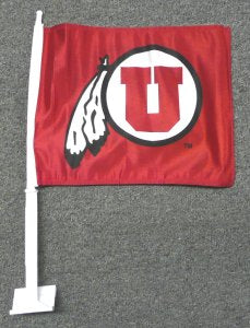 University of Utah Car Flag 2 Sided