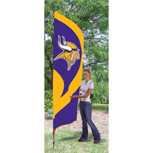 Minnesota Vikings 8ft Feather Sewn Flag Kit
