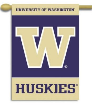 University of Washington House Flag 2 Sided