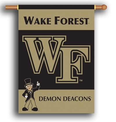 Wake Forest University House Flag 2 Sided
