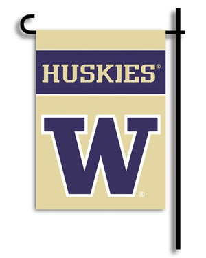 University of Washington Garden Flag 2 Sided