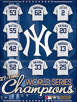 New York Yankees 2009 World Series Champs House Flag