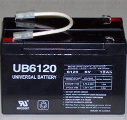 Universal Battery 6 Volt  12 Amp Hour Sealed Lead Acid (SLA) Battery Part No 2_UB6120F2