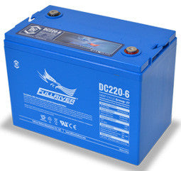 Fullriver 6 Volt 220 Amp Hour AGM Battery Part No DC220-6 Terminal Type M8