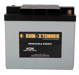 Sunxtender 6 Volt 138 Amp Hour AGM Battery Part No PVX-1380T
