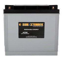 Sunxtender 12 Volt 153 Amp Hour AGM Battery Part No PVX-1530T