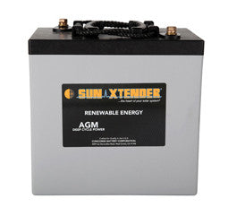 Sunxtender 6 Volt 224 Amp Hour AGM Battery Part No PVX-2240T