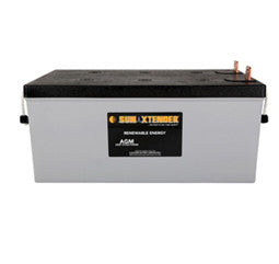Sunxtender 12 Volt 258 Amp Hour AGM Battery Part No PVX-2580L
