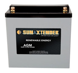 Sunxtender 12 Volt 49 Amp Hour AGM Battery Part No PVX-490T
