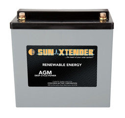 Sunxtender 12 Volt 56 Amp Hour AGM Battery Part No PVX-560T