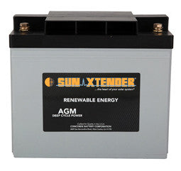 Sunxtender 12 Volt 69 Amp Hour AGM Battery Part No PVX-690T