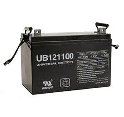 Universal Battery 12 Volt 110 Amp Hour Sealed Lead Acid (SLA) Battery Part No UB121100FR
