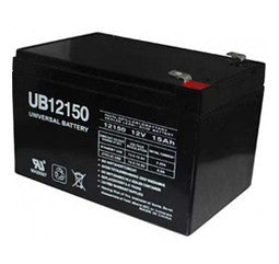 Universal Battery 12 Volt 15 Amp Hour Sealed Lead Acid (SLA) Battery Part No UB12150F2
