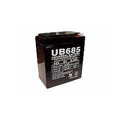 Universal Battery 6 Volt 8.5 Amp Hour Sealed Lead Acid (SLA) Battery Part No UB685F1