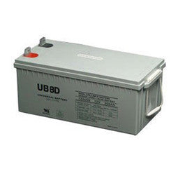 Universal Battery 12 Volt 250 Amp Hour Gel Cell Battery Part No UB8DGEL