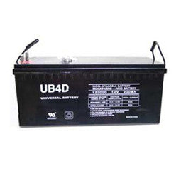 Universal Battery 12 Volt 200 Amp Hour AGM Battery Part No UB_4D