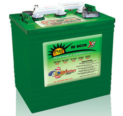 US Battery 6 Volt 242 Amp Hour Conventional Wet Cell Renewable & Solar Battery Part No US-RE-GC2H-XC