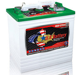 US Battery 6 Volt 242 Amp Hour Conventional Wet Cell Golf Cart Battery Part No US125XC